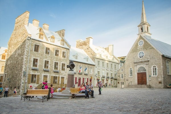Place Royale in Lower Town Quebec