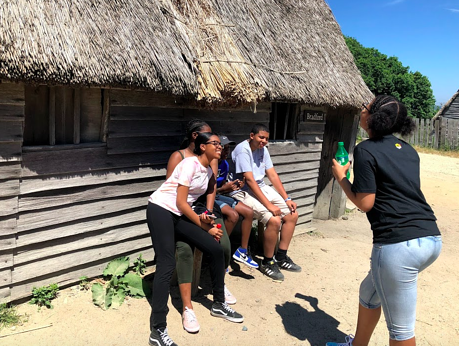 Students at the Plimoth Patuxet