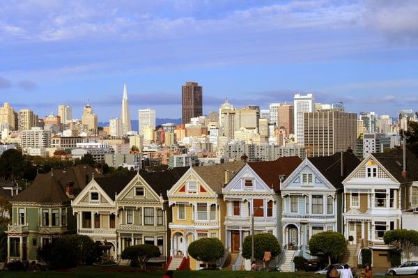 Painted Ladies houses in San Francisco.