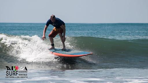Man surfing in Costa Rica.