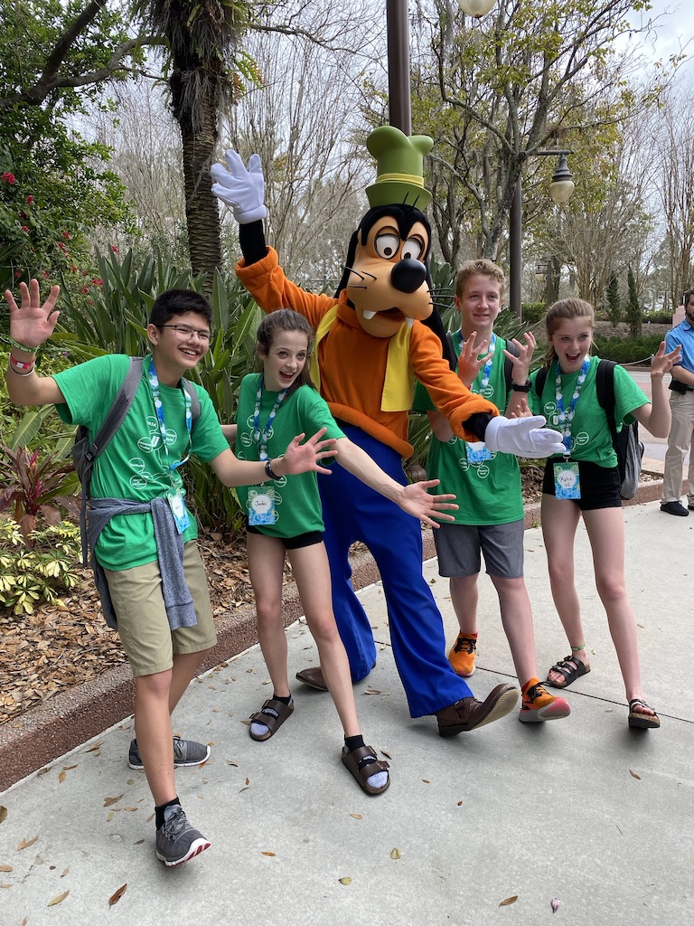 Students on a school trip to Orlando Florida