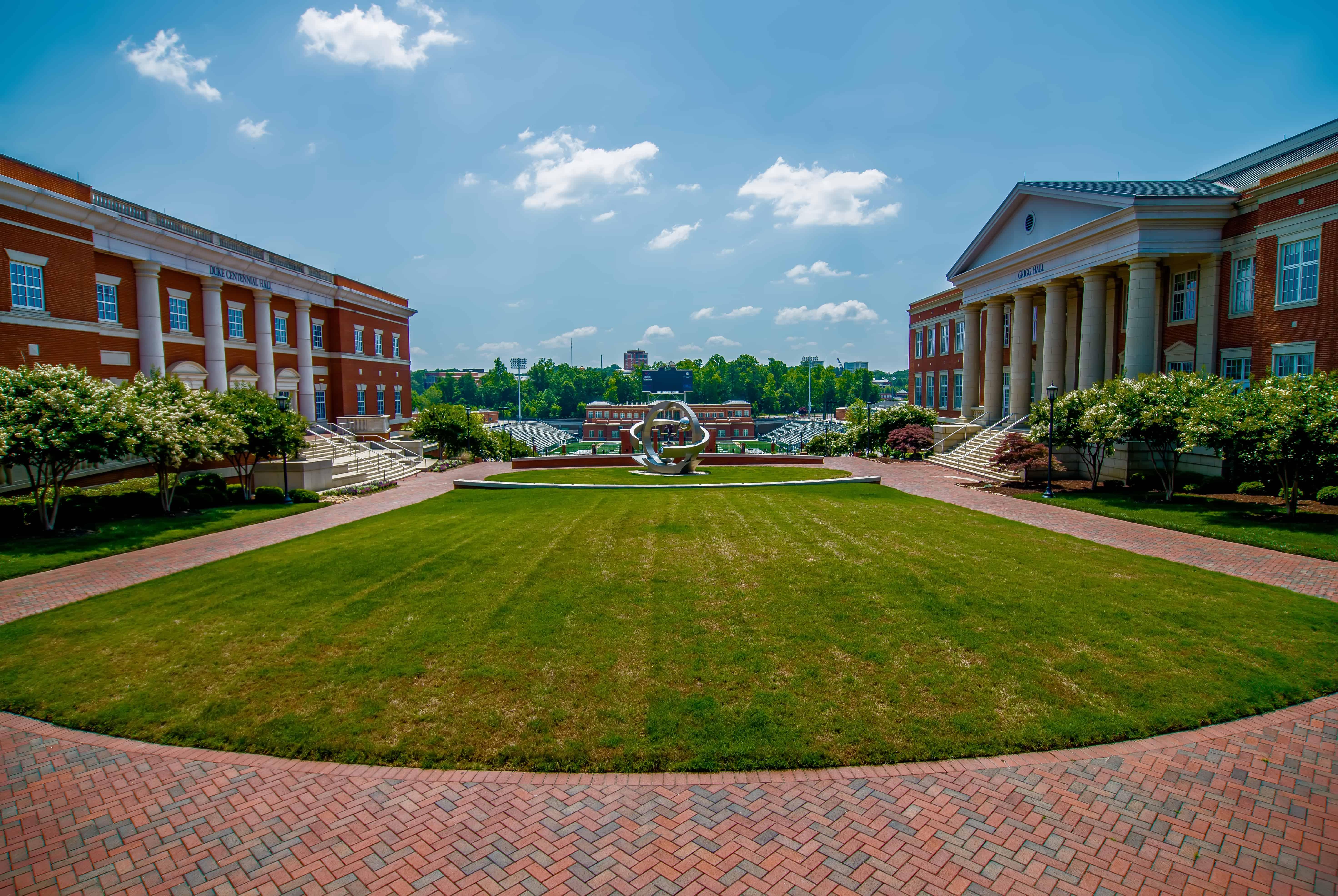university campus green