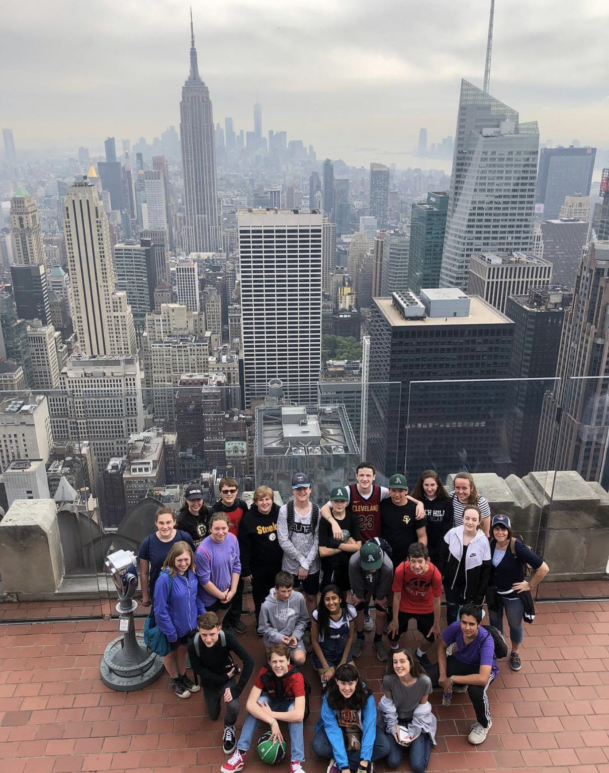 Students observing NYC.