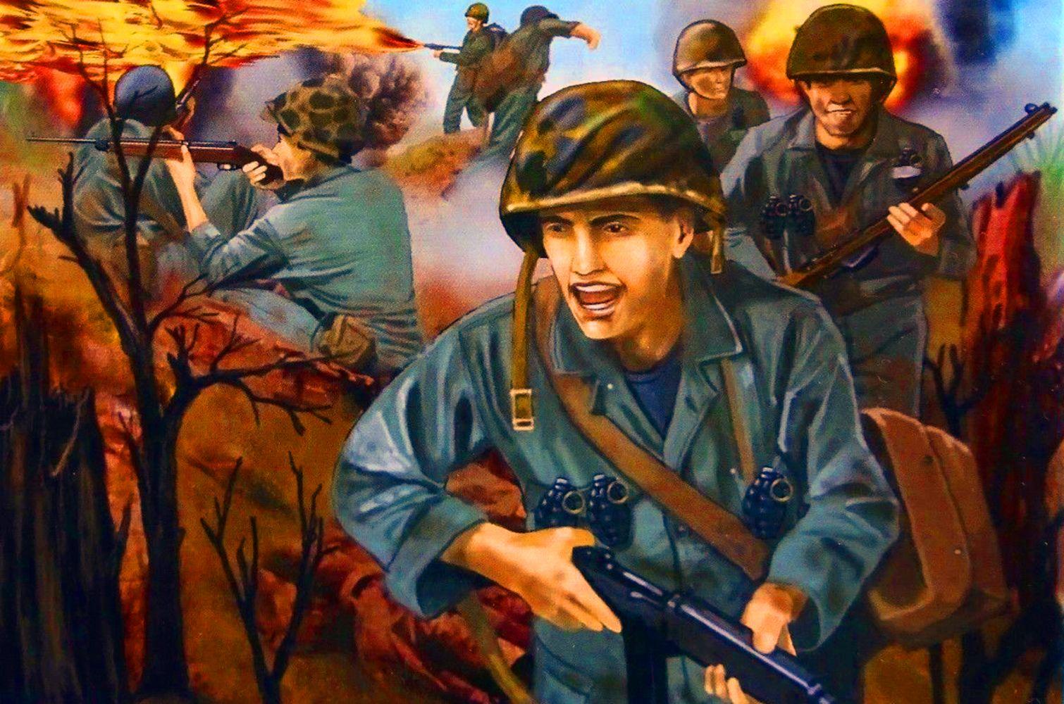 Men From Korean War In Action