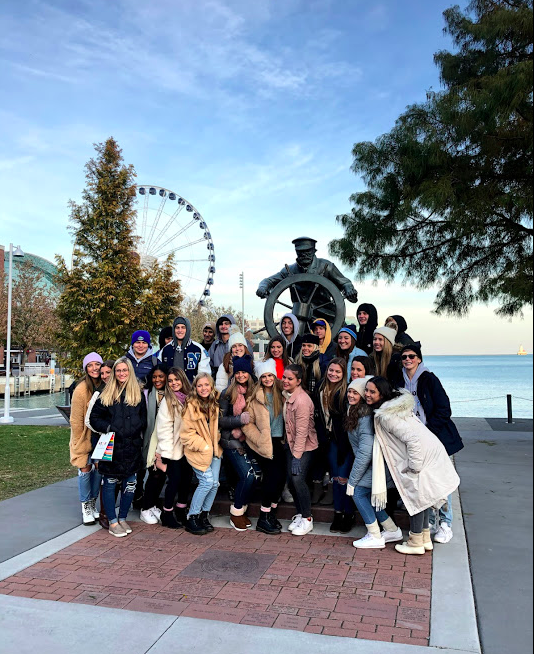 Navy Pier with GO Educational Tours travellers.