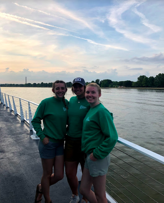 GO Leader Bailey, Michaela and Stephanie aboard the Spirit Cruise with our group.