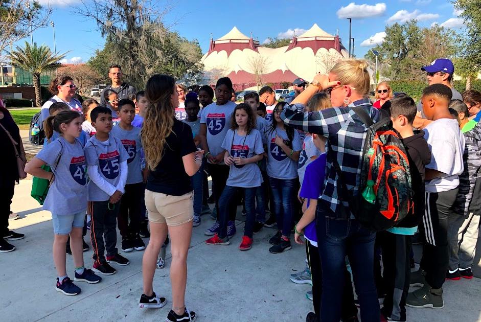 Students touring Florida State University!