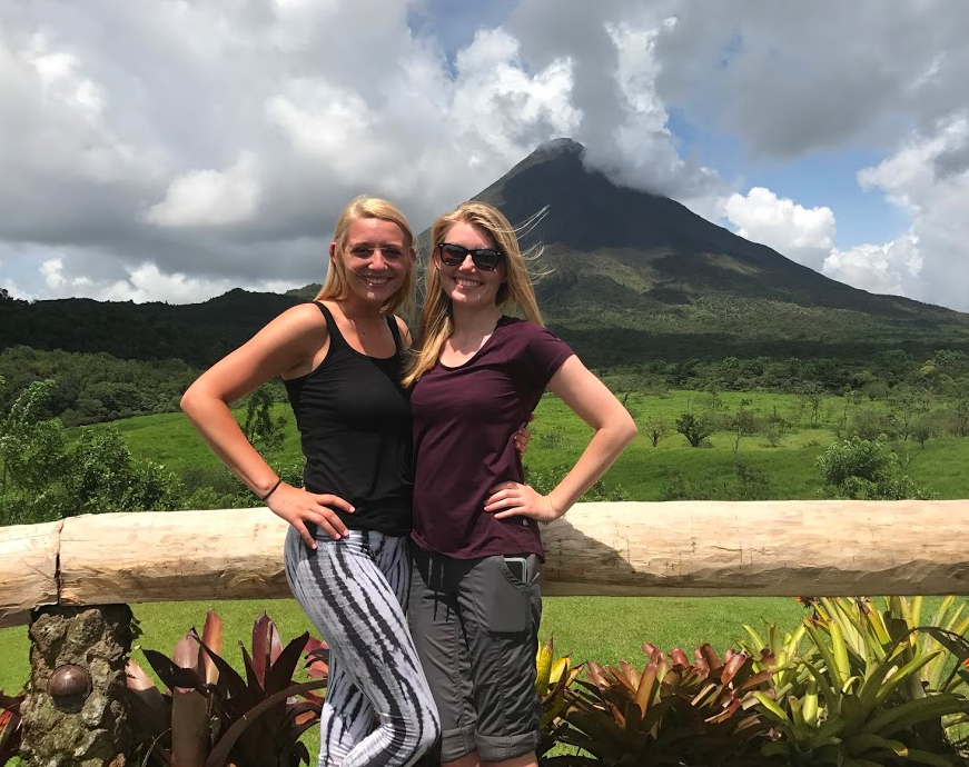 Students at Arenal Volcano National Park with GO Educational Tours