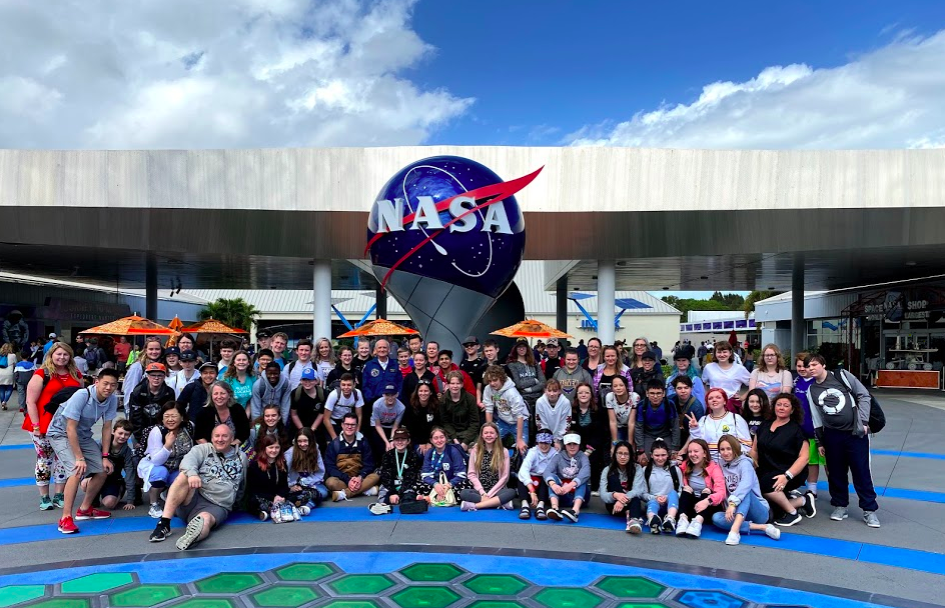 student group at Kennedy Space Center