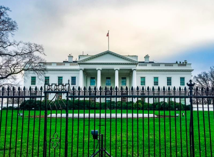 The White House during the day.