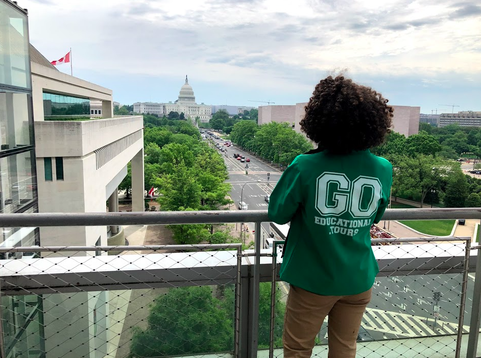 GO Leader with the Capitol Building in Washington, D.C.