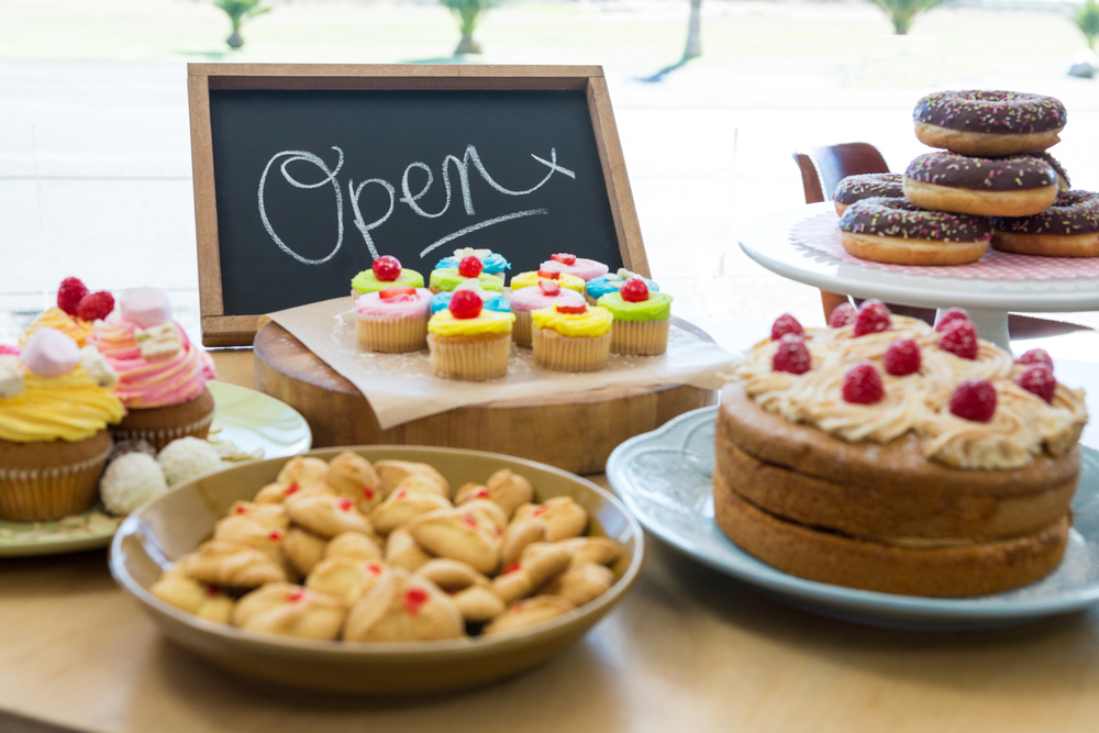 Fundraising bake sale for school trips.
