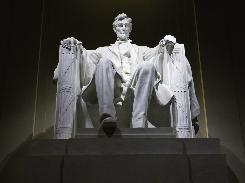 President Lincoln at his memorial in Washington dc