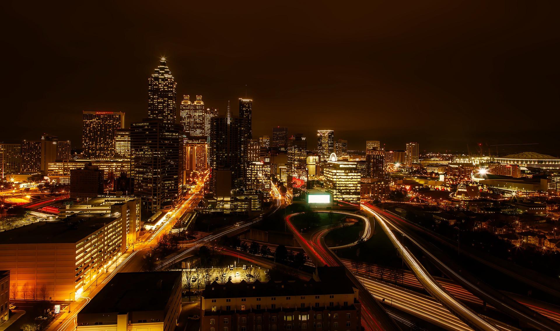 Long exposure photo of Atlanta, Georgia