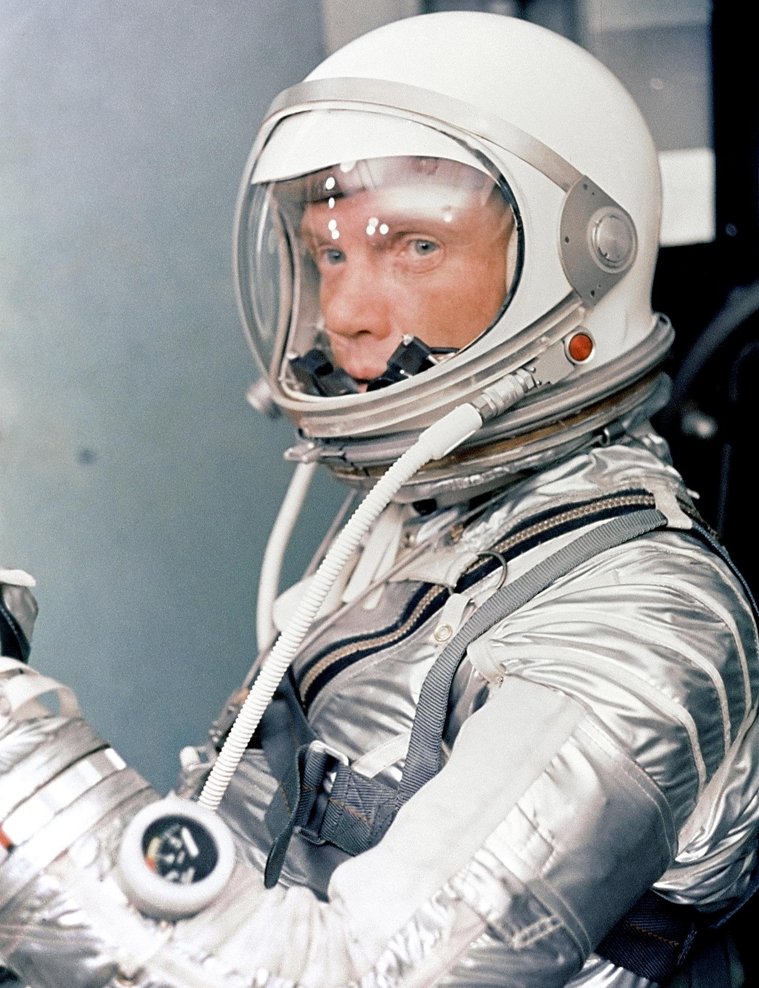 John Glenn in Astronaut Gear