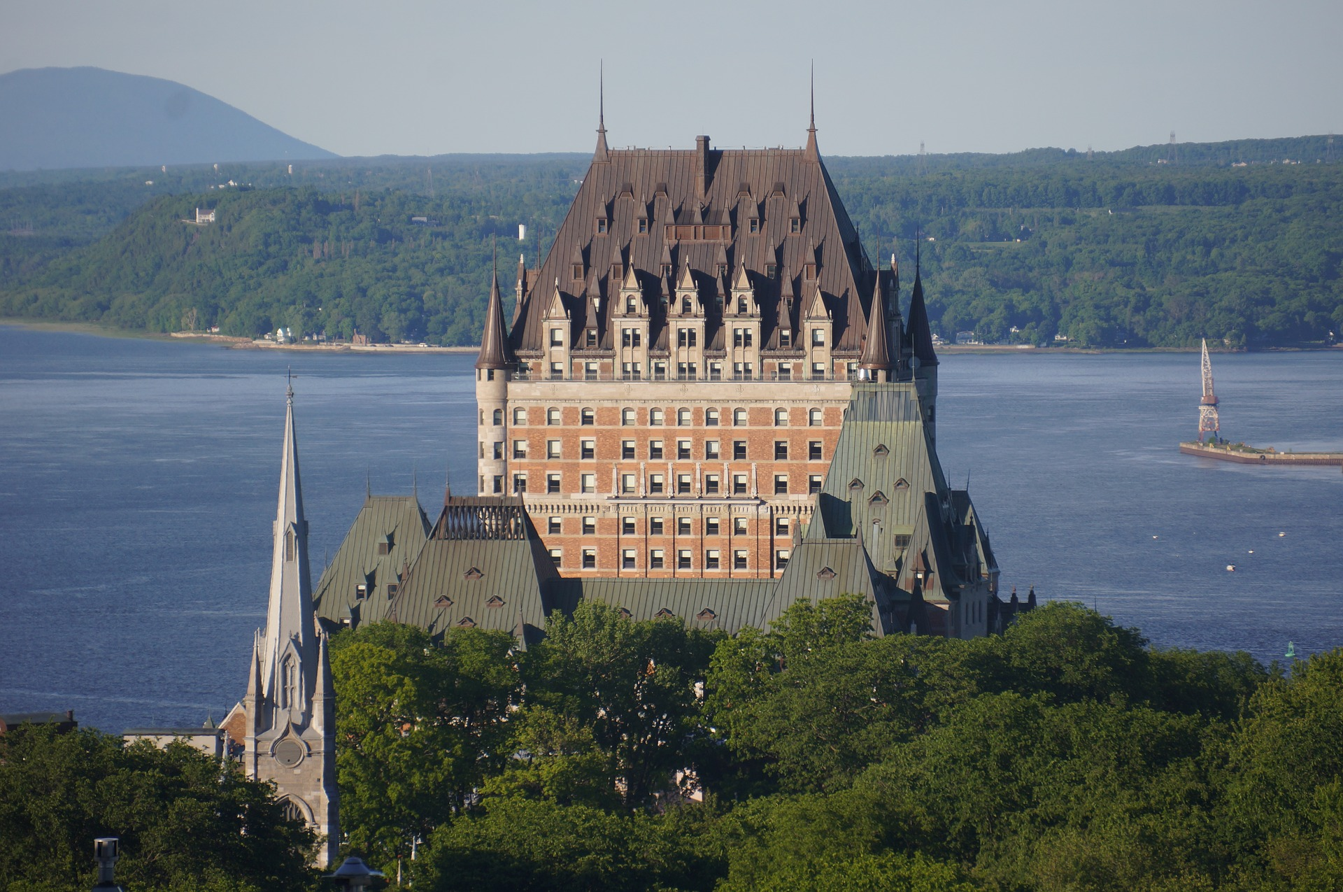 chateau frontenac with the new copper roof