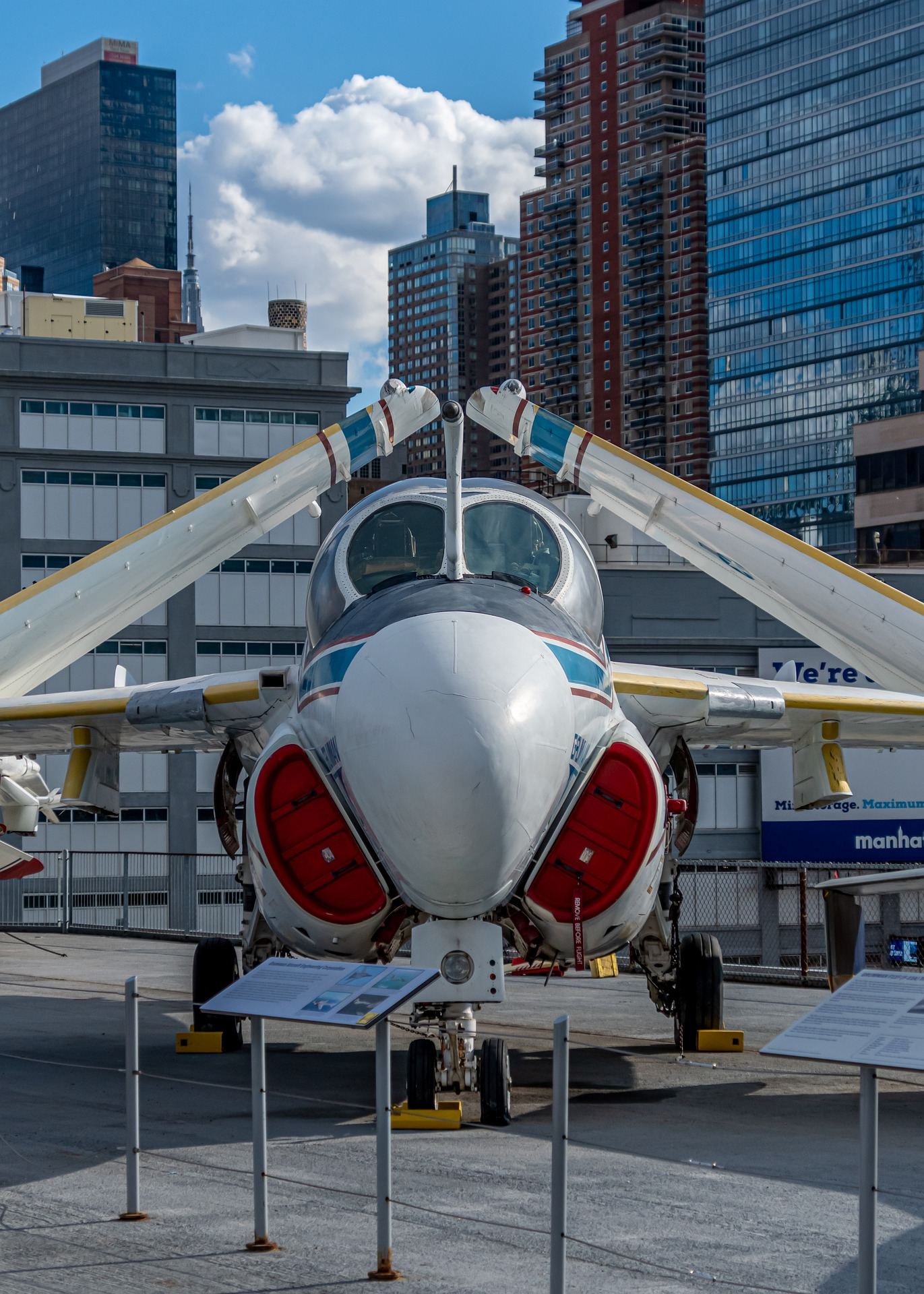 Plane at the USS Intrepid Museum.
