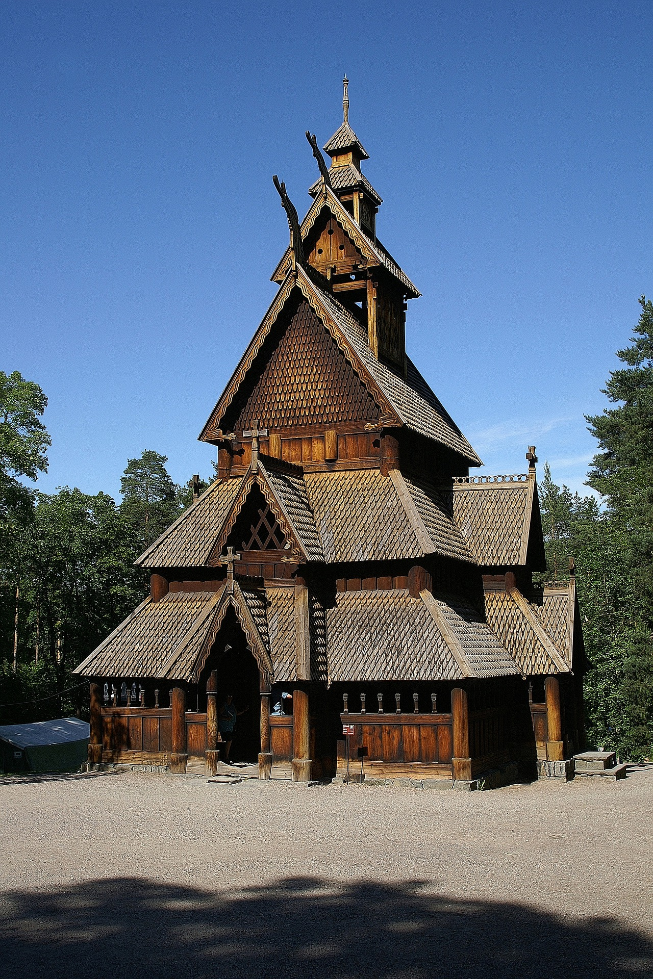 A wooden Stave church in Norway.