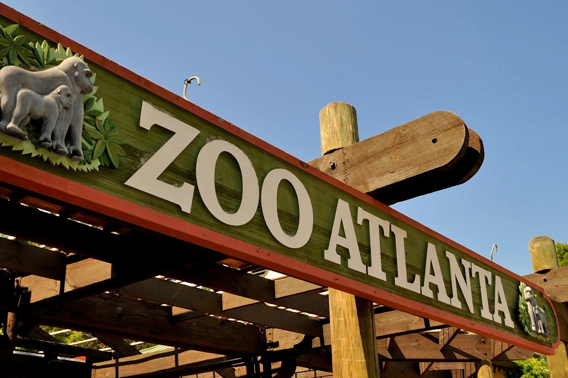 Zoo Atlanta sign in Atlanta, Georgia